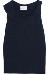 3.1 Phillip Lim Cropped Wool Blend Tank Navy