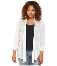 Nic Zoe Plus Size 4 Way Cardy Paper White Women's Sweater