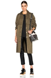 Current Elliott Storm Flap Trench Coat In Green
