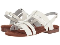 Walking Cradles Frisky White Leather Women's Sandals