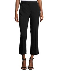Alexander Wang Twill Cropped Flare Pants Black