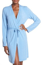 Women's Dkny 'City Essentials' Short Robe Chambray Heather