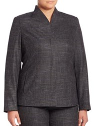 Marina Rinaldi Plus Size Carnet Mouline Blazer China Blue Multi