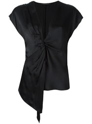 Catherine Quin 'Jeanneret' Knot Detail Top Black