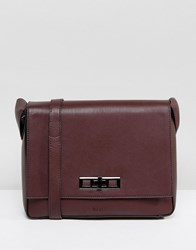 Nali Burgundy Across Body Bag Red
