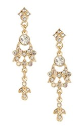 Stephan And Co Pave Drop Earrings White