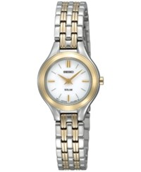 Seiko Women's Solar Two Tone Stainless Steel Bracelet Watch 22Mm Sup210 No Color