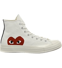Comme Des Garcons Converse High Top 70S X Play Cdg Trainers Beige