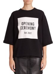 Opening Ceremony Logo Cut Off Sweat Tee Black