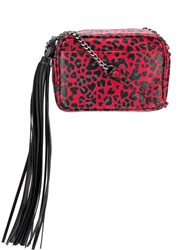 Zadig And Voltaire Leopard Print Tote Red