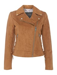 Andrew Marc New York Faux Suede Jacket Brown
