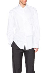 Casely Hayford Quincey Wrap Around Sleeve Shirt In White