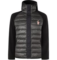 Moncler Grenoble Quilted Panelled Stretch Tech Jersey Hooded Down Ski Jacket Black