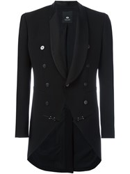 Tom Rebl Shawl Lapel Blazer Black