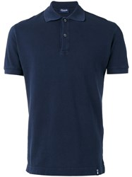 Drumohr Polo Shirt Men Cotton S Blue