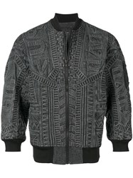 Ktz Textured Bomber Jacket Black