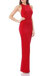 Js Collections Women's Stretch Crepe Gown