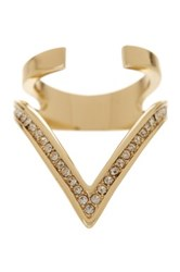 Ariella Collection Large V Ring