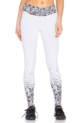 Koral Activewear Pixelate Cropped Legging Black And White