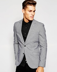 Esprit Puppytooth Blazer In Slim Fit Grey