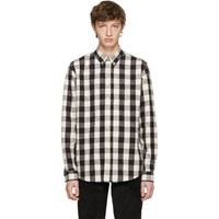 Schnayderman's Black And Off White Large Check Leisure Shirt