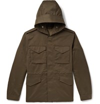 Mr P. Weather Resistant Hooded Field Jacket Green