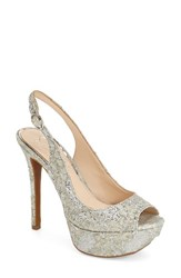 Women's Jessica Simpson Platform Slingback Peep Toe Pump Fairy Fabric