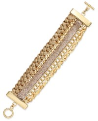 Bar Iii Gold Tone Multi Strand Friendship Bracelet
