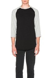 Comme Des Garcons Shirt Baseball Tee In Black Gray