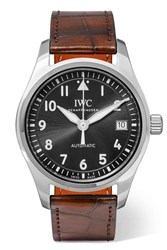 Iwc Schaffhausen Pilot's Automatic 36Mm Stainless Steel And Alligator Watch Silver