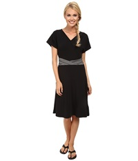 Exofficio Go To Crossfront Dress Black Women's Dress