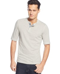 Weatherproof Short Sleeve Henley Shirt Gray Heath