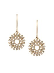 Astley Clarke 'Rising Sun' Diamond Drop Earrings Metallic