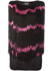 Jean Paul Gaultier Vintage Tye Dye Effect Fringed Top Black