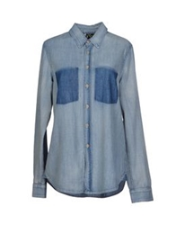 Mother Denim Shirts Blue