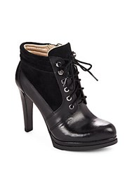 French Connection Sarina Lace Up Booties Black