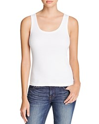 Three Dots Rocker Tank White