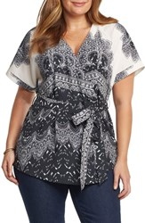 Tart Plus Size Ann Wrap Top Printed Lace