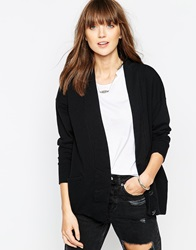 The Furies Noh Long Line Cardigan Jetblack