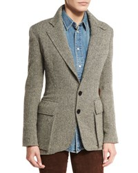Ralph Lauren The Tweed Jacket Black White Black White