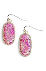 Kendra Scott Women's 'Dani' Stone Drop Earrings Pink Kyocera Opal Gold