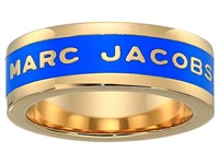 Marc Jacobs Band Logo Disc Ring Sapphire Ring Blue