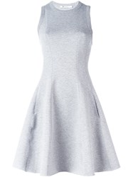 Alexander Wang T By Racerback Flared Dress Grey