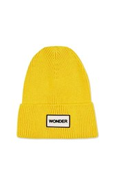 Topshop Wonder Beanie Hat Yellow
