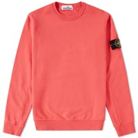 Stone Island Garment Dyed Fleece Crew Sweat Red