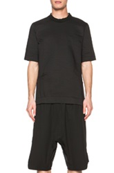 Song For The Mute Padded Box Top Cotton Blend Shirt In Black