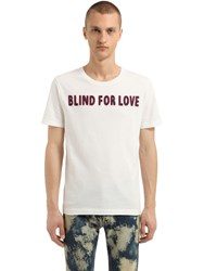 Gucci Blind For Love Cotton Jersey T Shirt