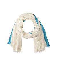 Calvin Klein Chambray Scarf With Border Latte Scarves Brown