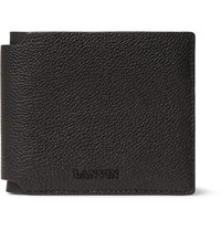 Lanvin Grained Leather Billfold Wallet Black