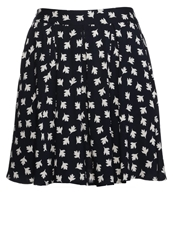 Louche Mini Skirt Navy Cream Dark Blue